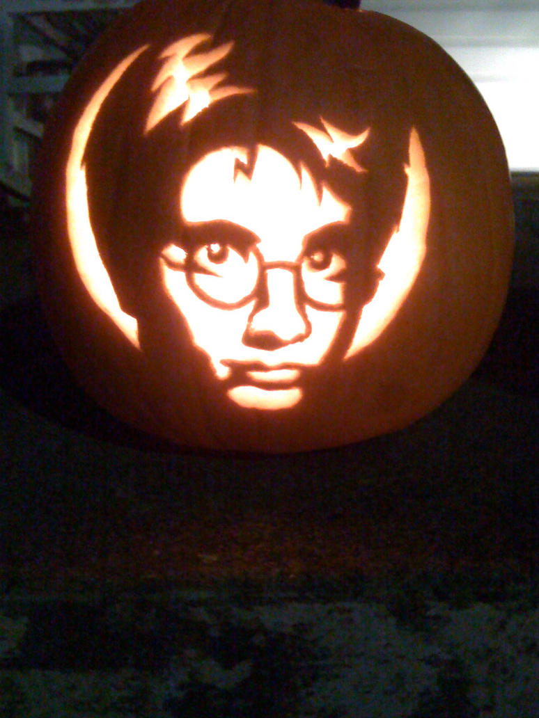 Harry potter pumpkin by makingmymark on deviantart