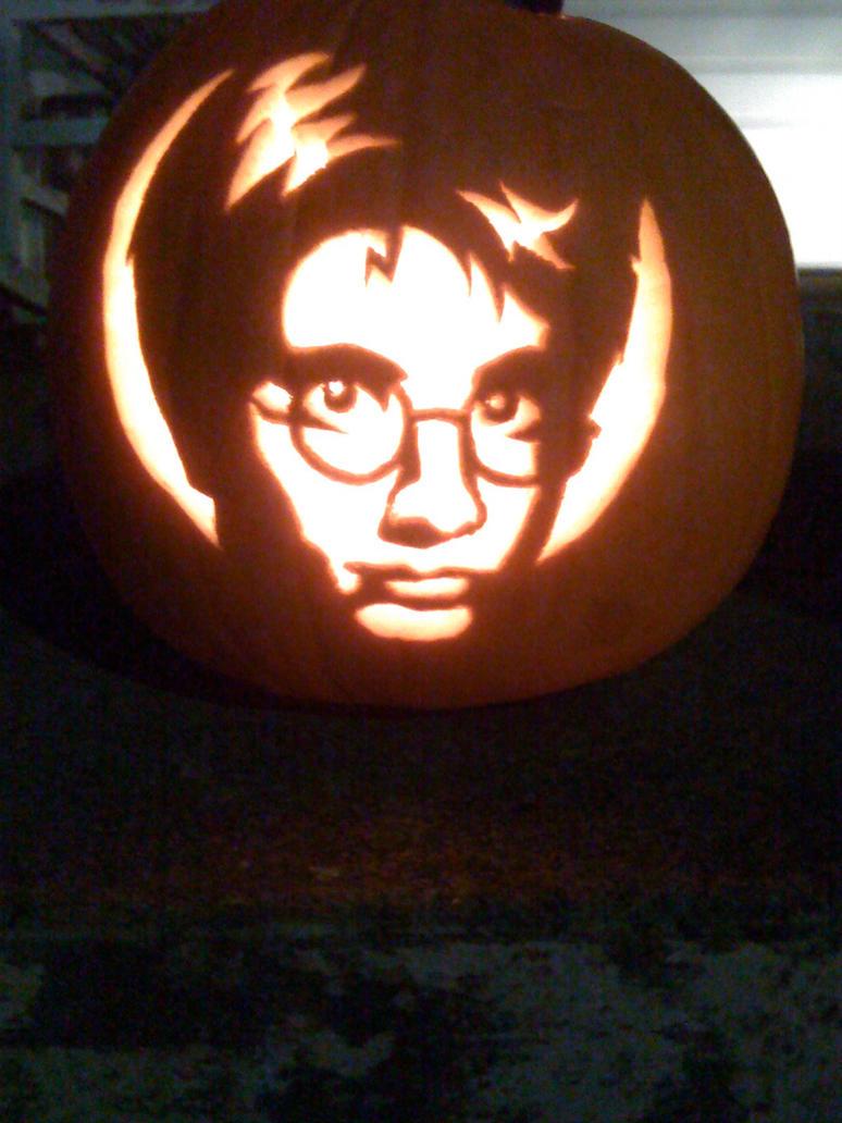 Harry potter pumpkin by makingmymark on deviantart for Harry potter pumpkin carving templates