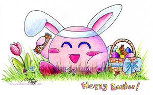 .: a very Kirby easter :. by tira-chan