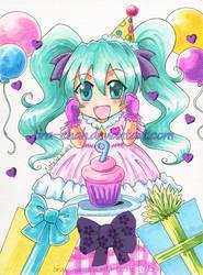 .: happy birthday miku! :. by tira-chan