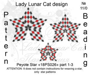 Peyote star 18PS026 part 1-3 by LadyLunarCat