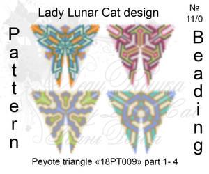 Peyote triangle 18PT009 part 1-4 by LadyLunarCat
