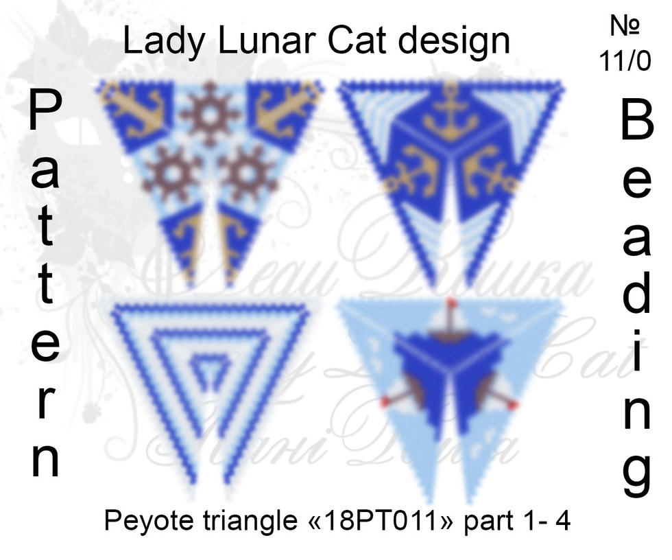 Peyote triangle 18PT011 part 1-4 by LadyLunarCat