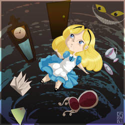 Alice in Wonderland - The fall