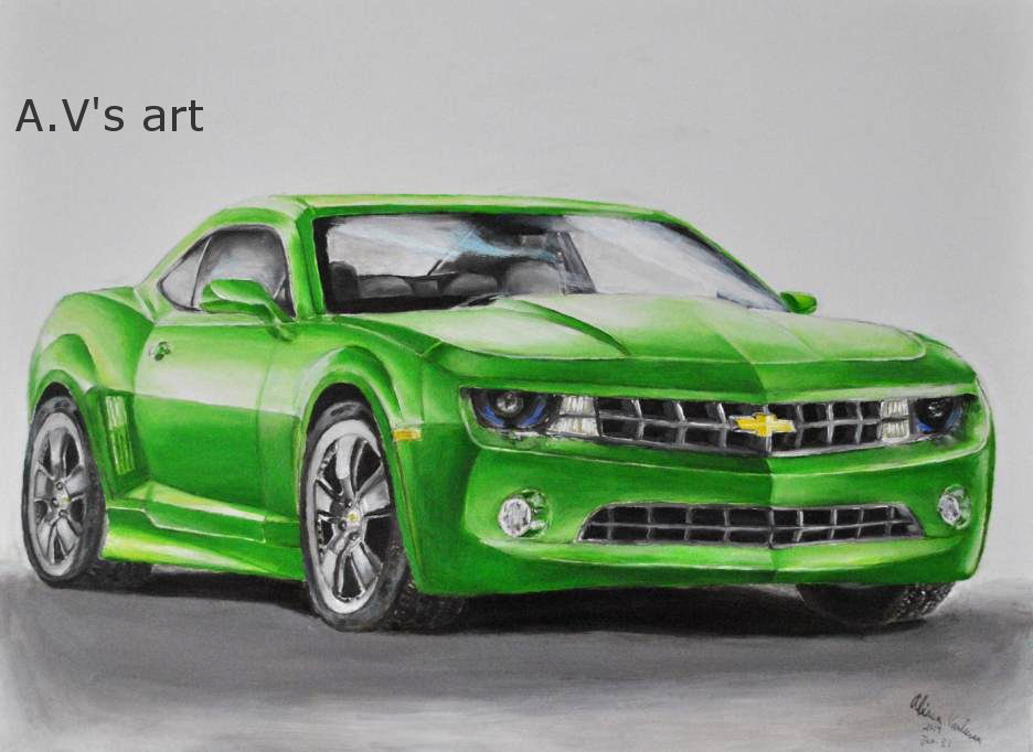 Green Camaro by WouldStalkHorses