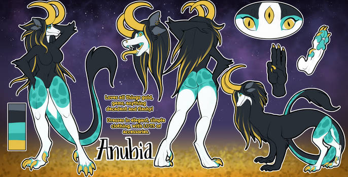 Anubia ref by little-owlette