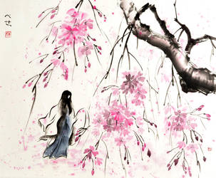 Katsura and sakura by bsshka
