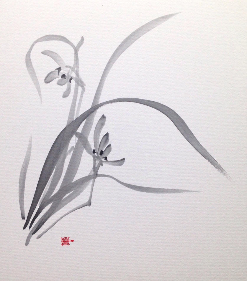 Sumie orchid by bsshka