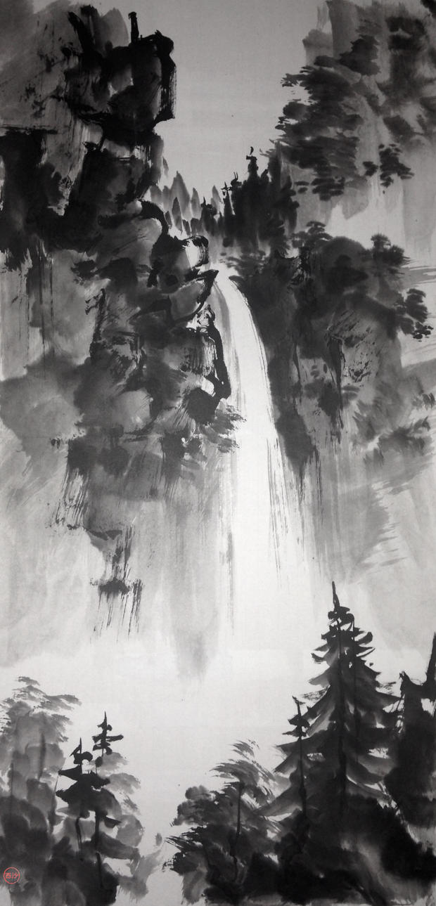 Sumie waterfall by bsshka