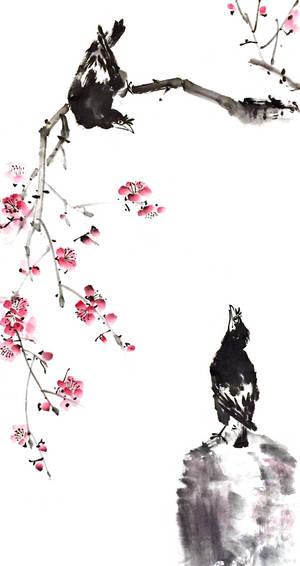 [Sei] Mynah birds and plum