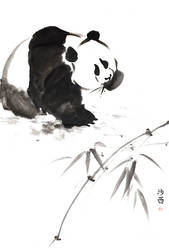 [Sei] Panda with bamboo