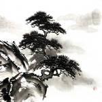 [Sumie] Pine-tree