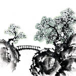 [Sumie] Spring landscape