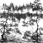 [Sumie] A lake