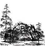 [Sumie] Northern landscape