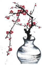 [Xieyi] Still life with plum