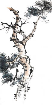 [Xieyi] Pine tree
