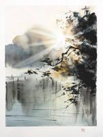 [Watercolor] Sunrise