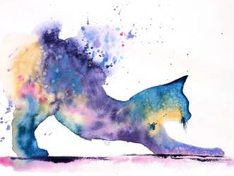 [Watercolor] Rainbow cat