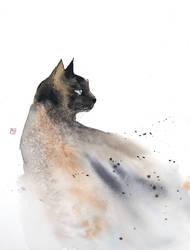 [Watercolor] A cat