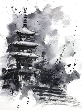 [Watercolor] A temple