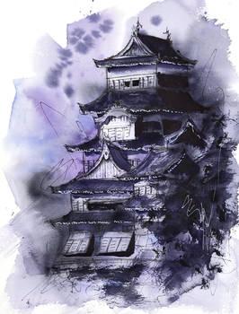 [Watercolor] Matsumoto Castle