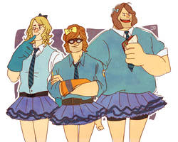 The BLU bitches from rival school by diceberg7