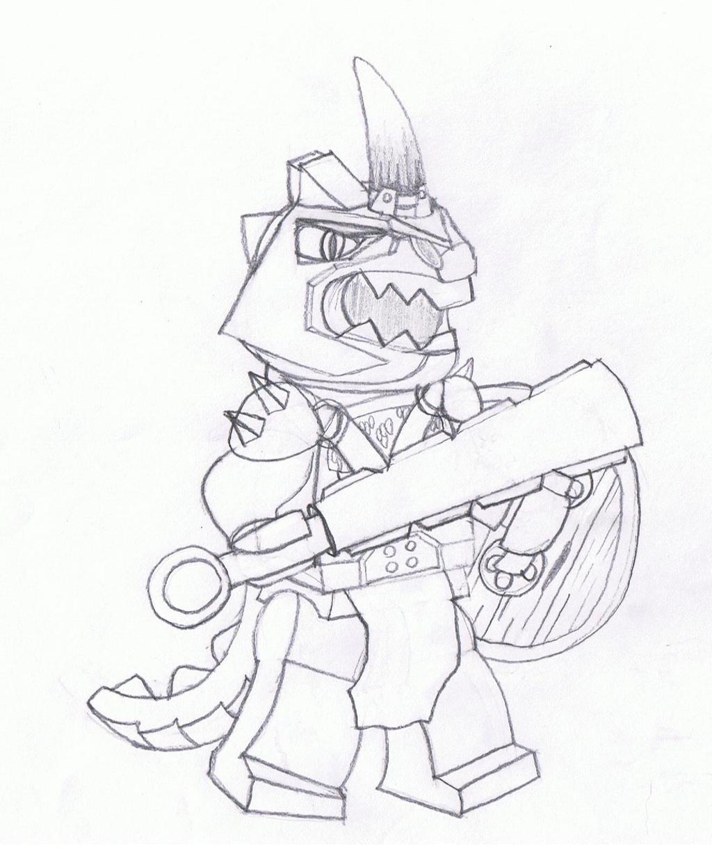LEGO Lizardman warrior by Brickule