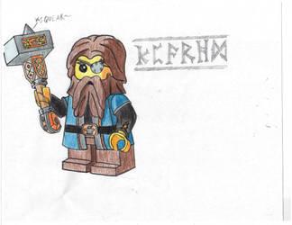 LEGO Dwarf Warrior Color by Brickule