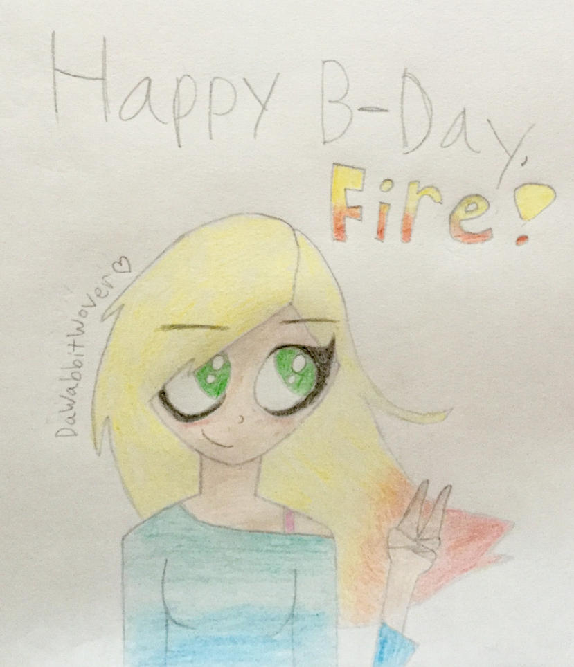B-day gift for Fireflower500 by DaWabbitWover
