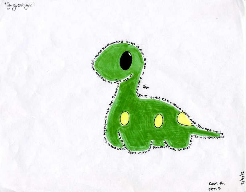 Dino Concrete Poem by Fun-Joy-CHIBIS on DeviantArt