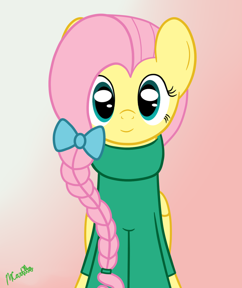 Fluttershy In A Hair Bow And Sweater By Mtfc1029 On Deviantart