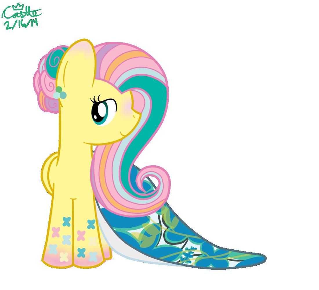 Rainbow Power Fluttershy's Prom Dress by mtfc1029 on ...
