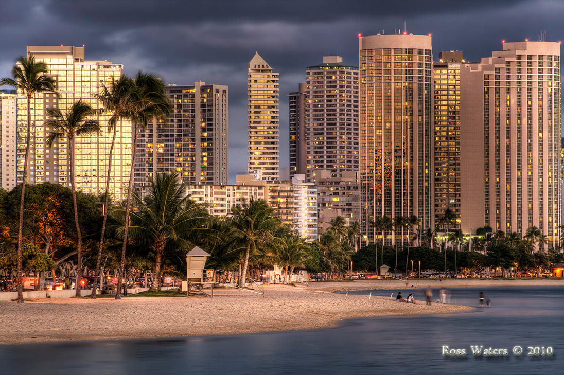 Honolulu City at Night 2 by rdw283