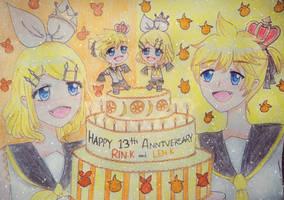 Happy belated birthday to my Kagamine babies!