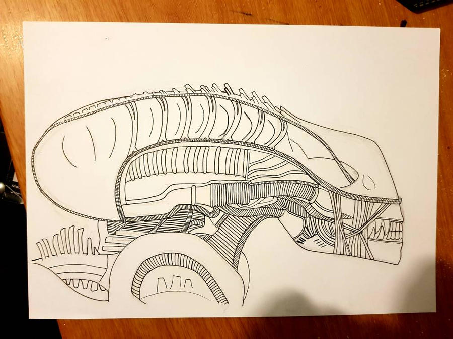 alien drone wip by yorkshirepudding1990