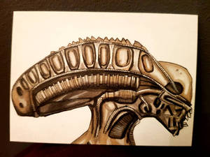 alien skull ACEO #235