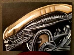 big chap alien ACEO #236