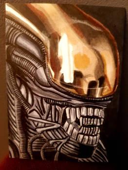 big chap alien ACEO #237