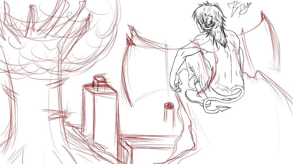 My OC sketch! by ZetraBlaze