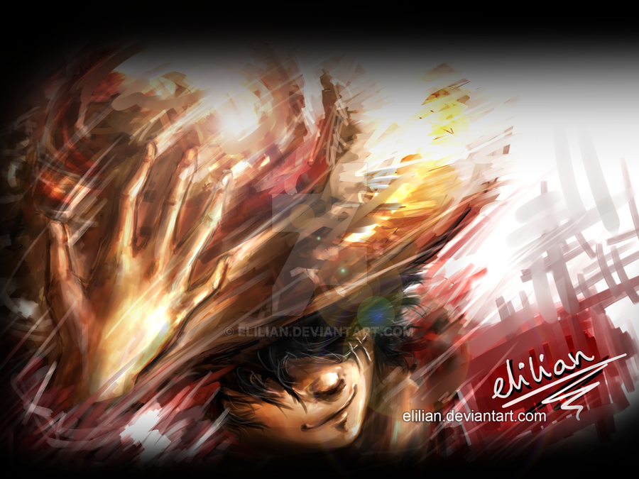 One Piece - Monkey D. Luffy (two years after) by Elilian