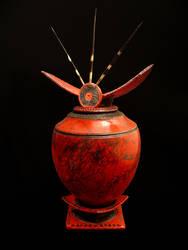 Temple Jar II by rhodespottery