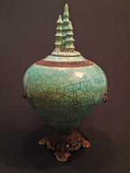 Jade Temple Vessel by rhodespottery