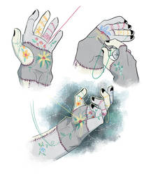 Hand embroidery (Frankenstein)