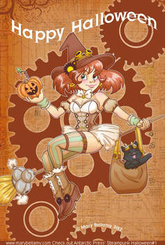 Steampunk Halloween Pin up