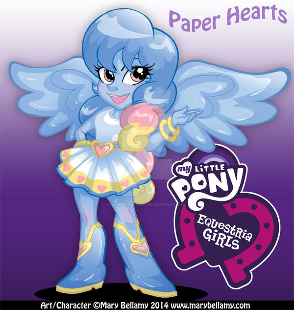 Paper Hearts Equestria Girls by MaryBellamy