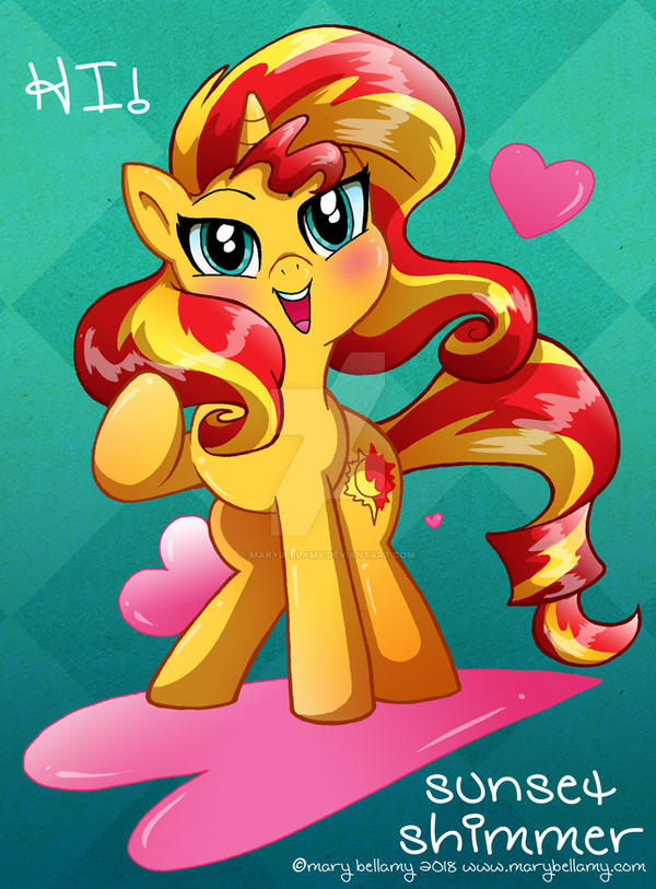 Sunset Shimmer by MaryBellamy
