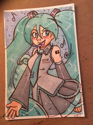 Miku Commission by MaryBellamy