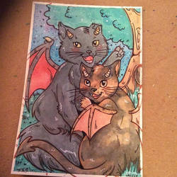 Dragon kitties Commission by MaryBellamy
