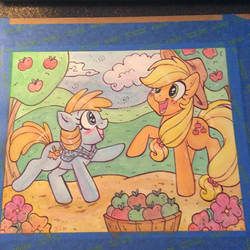 Applejack and friend